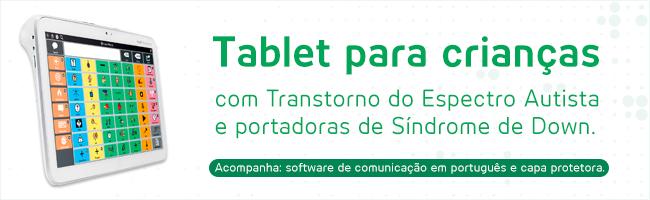 Imagem com os dizeres Tablet Indi para crianças autistas